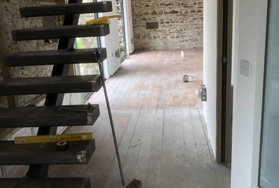 Oak floor refurbishment, Saltash